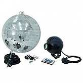 EUROLITE Mirror Ball 30 cm SET with LED Spot